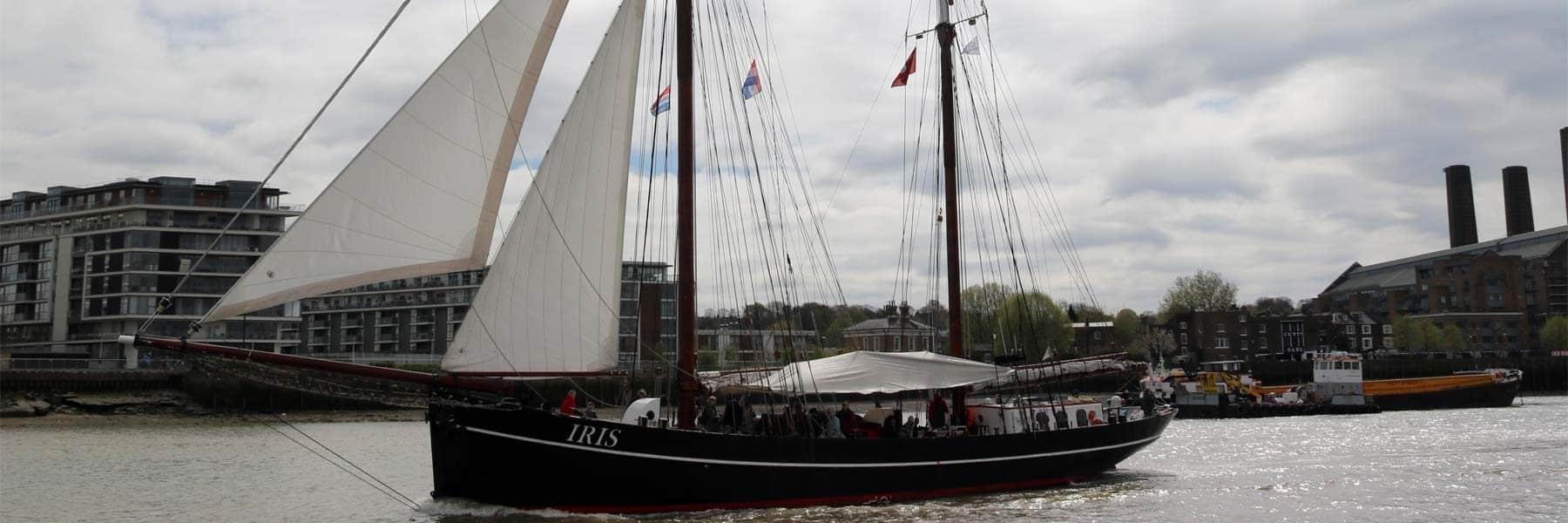 Tall Ship Iris at the Royal Borough of Greenwich