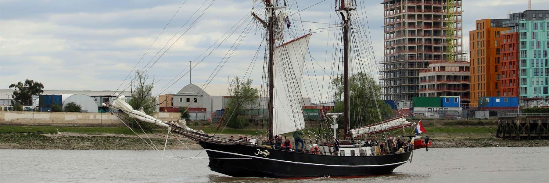 Tall Ship Jantje at the Royal Borough of Greenwich