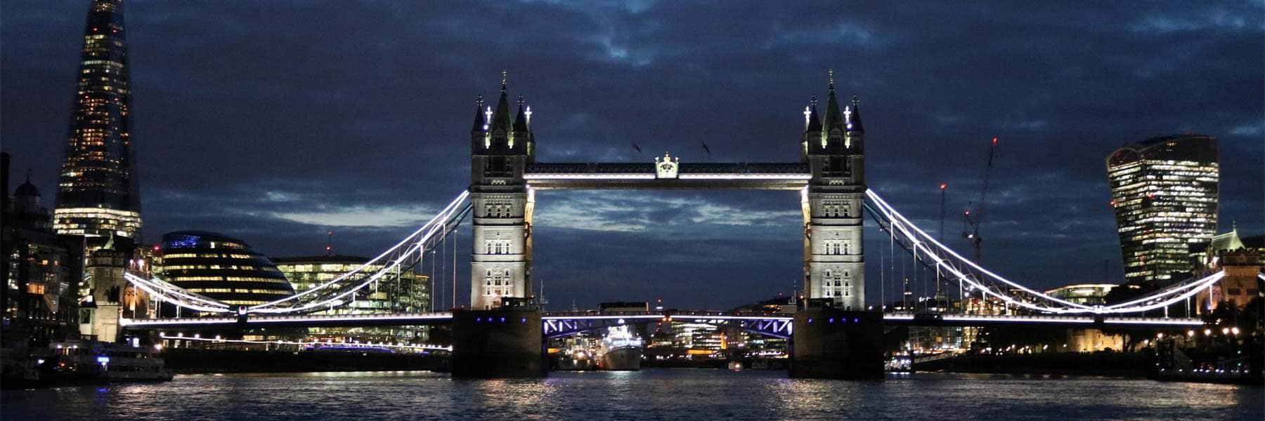 Tower Bridge & the Shard at night